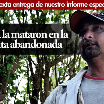 Mario Algarín Carrillo, celador de la finca Los Mangos, quien halló los restos de Angie Paola.   Foto: Jesus Rico
