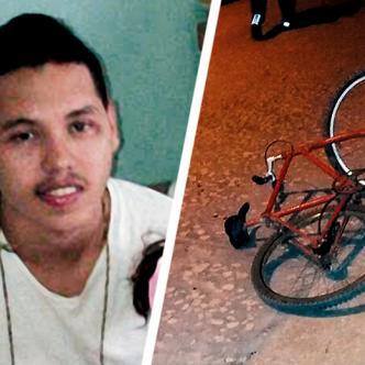 La bicicleta supuestamente objeto del hurto quedó a pocos metros de donde cayó muerto Steven Andrés Herrera.   AL DÍA