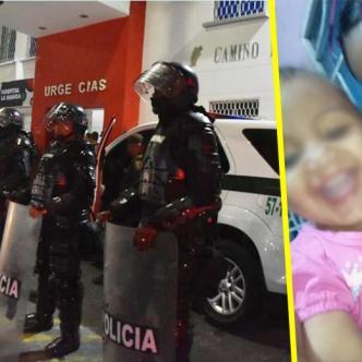 Durley Romero Diago y su pequeña hija.