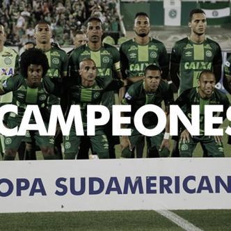 Una semana después de la tragedia, la Conmebol otorgó el título de campeón de la Copa Sudamericana al Chapecoense.