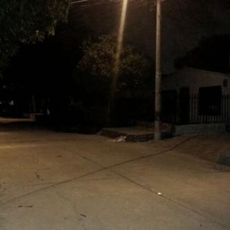 En este sector del barrio Las Palmas ocurrió el incidente la noche del jueves.