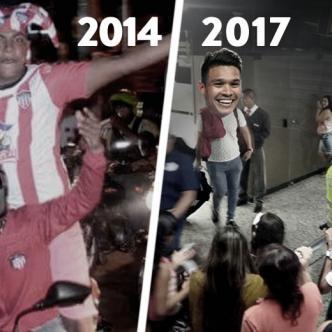 Hinchas del Junior se quedaron esperando la llegada de Teo Gutiérrez en el Aeropuerto Ernesto Cortissoz por una falsa información | Twitter
