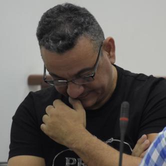 José Luis Aduén Uribe, capturado en flagrancia en la calle 63 con carrera 23 del barrio Los Andes, durante la audiencia de este viernes.