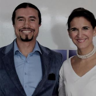 Alexander Rubio y Yaneth Giha, ministra de Educación de Colombia | Cortesía