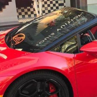 En este Lamborghini fue captada en varias oportunidades Jenny Lizeth por agentes de la Fiscalía.