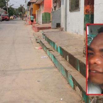 Lugar donde se registraron los hechos. En el recuadro, José Gregorio Ferrer Jurado, la víctima. Johnny Olivares