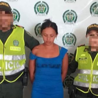 Liliana González fue detenida cuando entraba cocaína a la Estación de Policía de El Banco.