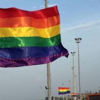 Banderas de la diversidad ondean en el Gran Malecón Puerta de Oro.Tomado de: Cortesía