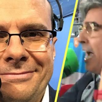 Mister Chip, estadígrafo español y Alejandro Romero, narrador español.   Tomada de: Captura de pantalla.