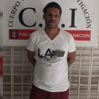 Said Brito Arrieta, capturado en el municipio de Maicao.