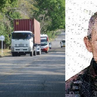 En la Transversal del Caribe ocurrió el accidente de tránsito que acabó con la vida de Rafael Contreras Cuello.