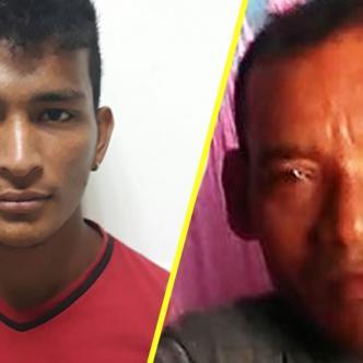 Edwin Jiménez Villafañe, hijastro y Luis Beltrán Nadal Ortiz, fallecido.   Al Día