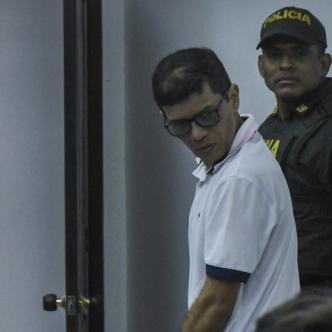 Carlos Altahona Arraut en una de las diligencias del proceso que se le sigue por delitos sexuales con menores.