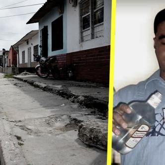 En este lugar cayó muerto Arlington Ochoa Camargo.
