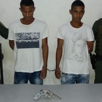 Eduardo Luis Manjarrés Castro y Brayan Jesús Cantillo Tabares, los capturados.