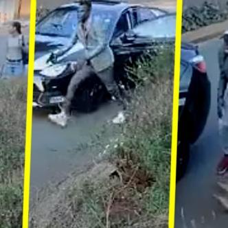 La joven logró que los ladrones se rindieran y se fueran | Captura de pantalla