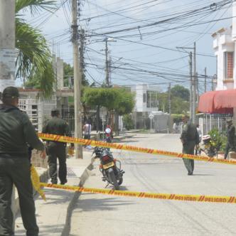 Frente a la ferretería de la carpa roja, en el barrio Sevilla, zona norte de Sincelejo, ocurrió la balacera.