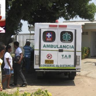 Los cadáveres de Andrade y González (recuadro) fueron trasladados por criminalistas de la Sijín hasta la morgue banqueña.   Cortesía