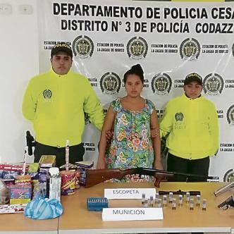 Cindy Carolina Fuentes Avendaño, de 26 años, capturada.