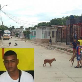 En esta cuadra ocurrió el homicidio. En el recuadro Brayan Enrique Amaya García, asesinado.  Al Día