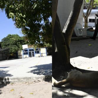 La Institución Educativa La Aguada fue asaltada el martes en la noche y los ladrones escaparon la madrugada.