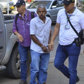 Iván José Oñate Armenta fue capturado por el CTI de la Fiscalía con apoyo del Gaula Militar.