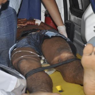 José Torres, de 21 años, fue atendido inicialmente en el hospital de La Paz.