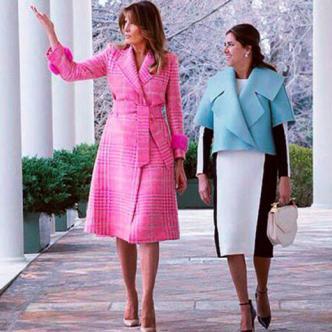 Melania Trump y María Juliana Ruiz, primeras damas de EEUU y Colombia, respectivamente. | Tomada de Twitter
