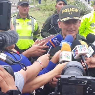 El general Mariano Botero Coy entregando información a los medios sobre el balance de Semana Santa. | Prensa Mebar