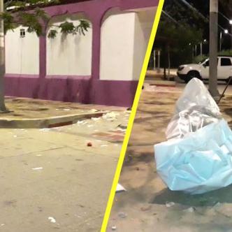 El cadáver del habitante de la calle permaneció todo el día del miércoles hasta en la noche cuando llegaron autoridades.