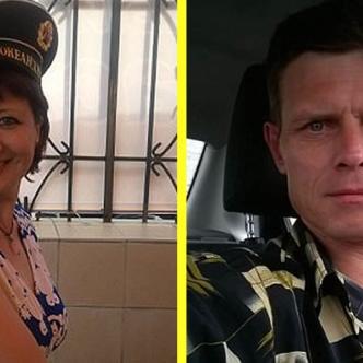 Irina Gonchar, la víctima (izq). Anatoliy Ezhkov, el agresor (der) | Daily Mail