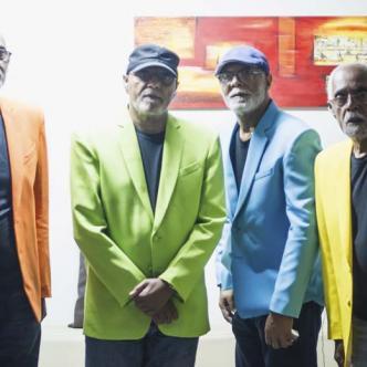 De izquierda a derecha Frank, José, Carlos y Ángel, los líderes de Los Hermanos Lebrón.