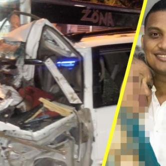 El joven quedó atrapado en los hierros de la camioneta y el indígena muerto bajo el mismo vehículo.