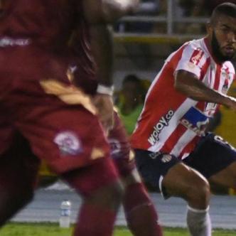Fredy Hinestroza durante el juego contra Deportes Tolima en Barranquilla.Mery Granados