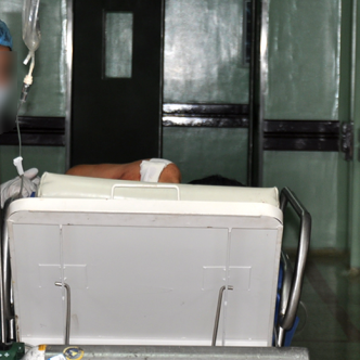 La víctima permanecía ayer en el Hospital Rosario Pumarejo de López, en Valledupar.   Al Día