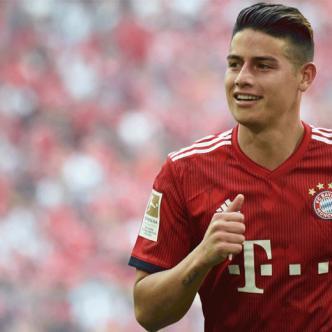James Rodríguez fue seleccionado por los hinchas del Bayern como el jugador más destacado del pasado mes.