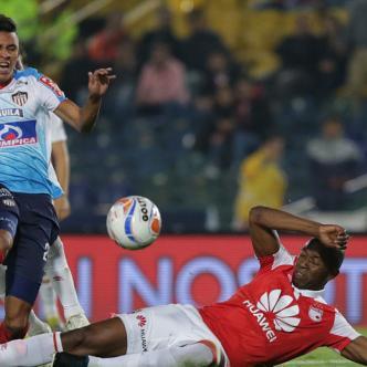 En su última salida por Liga Águila II, Junior igualó 2-2 ante Santa Fe en el estadio El Campín por la fecha 14.