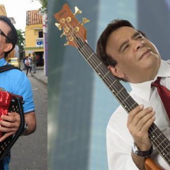 Alfredo Gutiérrez, tres veces ganador del Festival Vallenato y Julio Ernesto Estrada, Fruko, genio de la música tropical colombiana.