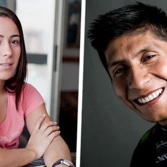 Nairo Quintana, ganador de la Vuelta España y el Giro de Italia y Mariana Pajón, bicampeona olímpica de BMX | Archivo