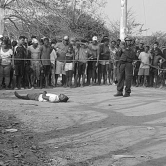 El cuerpo de Gerardo Torres, el primero en morir. | Al Día