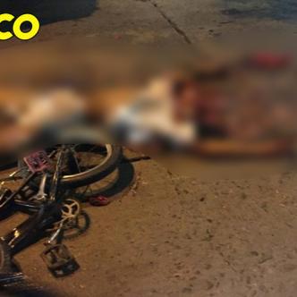 Según testigos el joven perdió el equilibrio cuando iba en la bicicleta se soltó del automotor y cayó debajo del mismo.