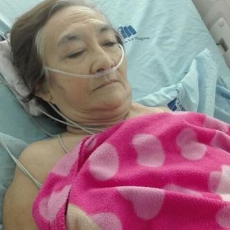 María Adiela Corrales, de 74 años, está hospitalizada en una clínica.   Al Día