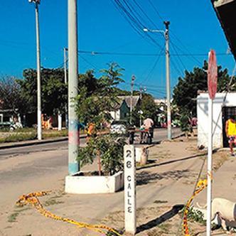 Los hechos que terminaron en la muerte del patrullero de la Sijín y de Salcedo Soto ocurrieron en esta esquina.   AL DÍA
