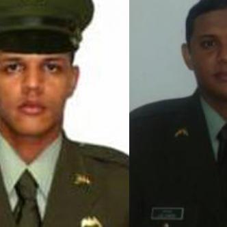 Luis Miguel Canedo y Andrés Rafael Juliao, policías señalados de abuso a menor de 17 años.Suministrada