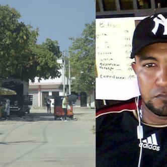 En esta calle fue asesinado Jhon Jairo Colón Ortega quien se opuso a que le robaran la moto que su amigo le había prestado para rebuscarse.
