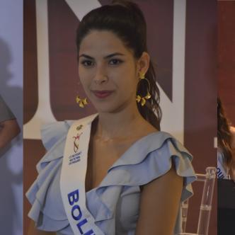 Las candidatas atendieron a los medios luego de la entrevista con el jurado.