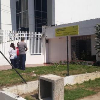 Hasta este lugar fue seguido el vigilante por los delincuentes que tras herirlo le robaron los nueve millones de pesos que llevaba.