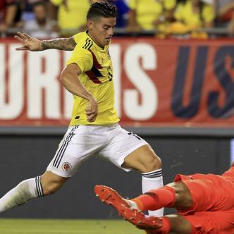 En su regreso a la Selección Colombia, el cucuteño James Rodríguez fue uno de los destacados en el triunfo de anoche.