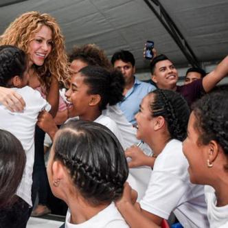 Shakira durante su visita en Barranquilla. | Archivo.