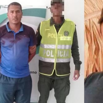 Rafael Segundo Julio Cuadrado, señalado de asesino y Juan Camilo Julio Cuadrado, muerto.